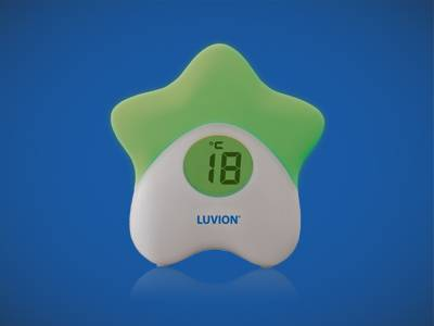 Luvion Baby room night light with thermometer