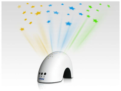 Luvion projection arc star projector baby night light