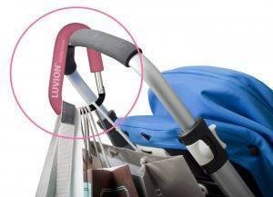 Pink stroller hook clip