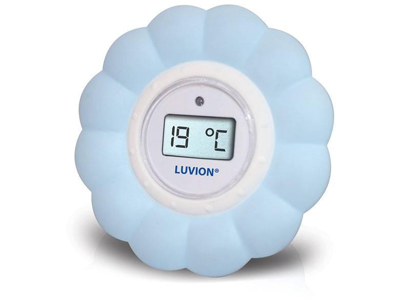 Luvion thermometer babykamer blauw